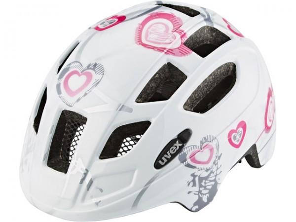 UVEX finale junior 51 - 55 cm heart white pink