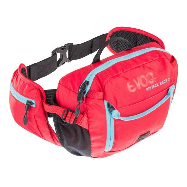 EVOC Hip Pack Race 3L+1,5L bladder red neon blue