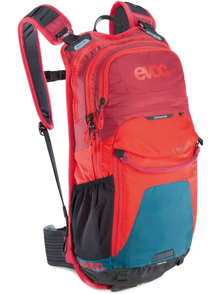 EVOC Rucksack Stage 12L petrol-red-ruby